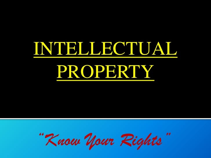 Dissertation topics on intellectual property