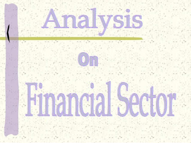 Analysis On Financial Sector