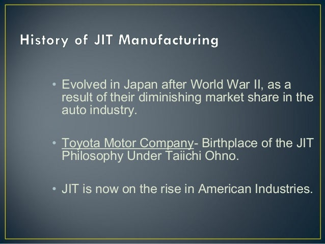 just in time analysis A case study on toyota's jit revolution - free download as word doc (doc / docx), pdf file (pdf), text file just-in-time manufacturing (which also needs to be subjected to cost/benefit analysis.