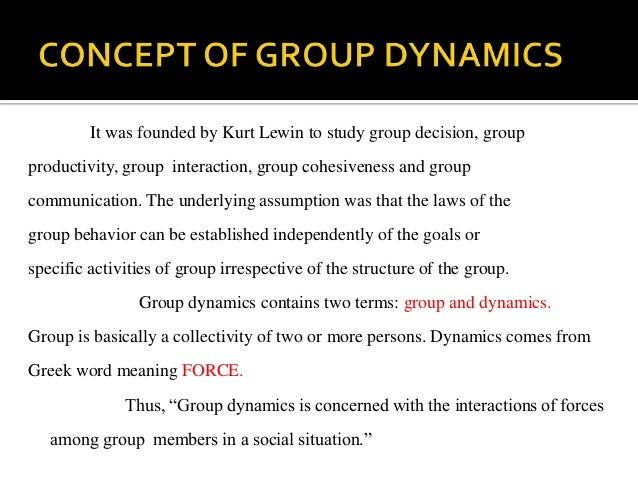 an essay on the core of team dynamics Student attitudes about group work are often negative because  deal with those  group dynamic issues that compromise group effectiveness,.