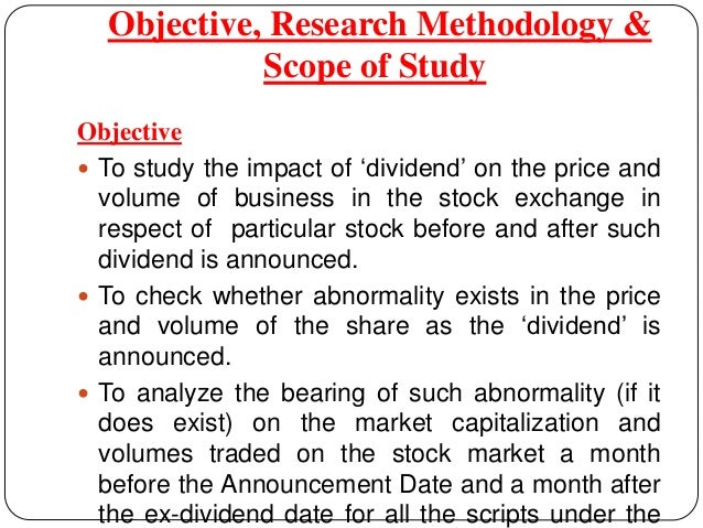 Dividend policy research paper