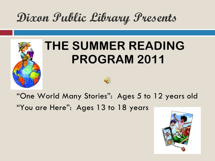 Dixon Public Library Summer Reading Program
