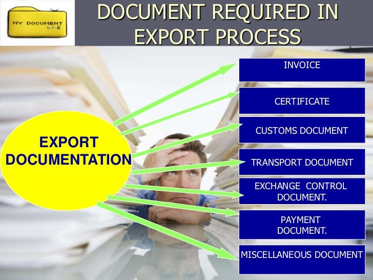 export procedures and documentation for exporting Export this diagram shows the steps and processes that an exporter has to go   documents that need to be submitted in order to complete the export process.