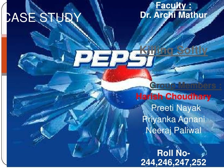 pepsi killing softly
