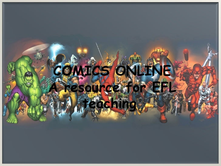 comics online as a resource for increasing EFL  learning