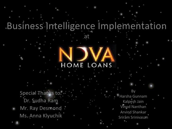 Business Intelligence for the Home Loan Industry