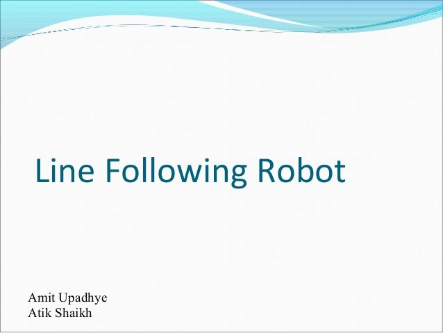 Line following robot - Mini project