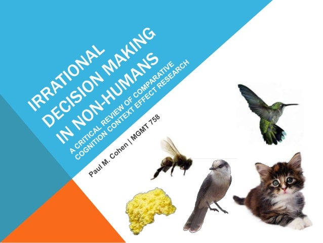 Irrational Decision Making in Non-Humans: A Critical Review of Comparative Cognition Context Effect Research