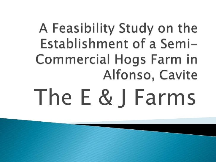 A Feasibility Study on the Establishment of a Semi-Commercial Hogs Farm in Alfonso, Cavite<br />The E & J Farms<br />
