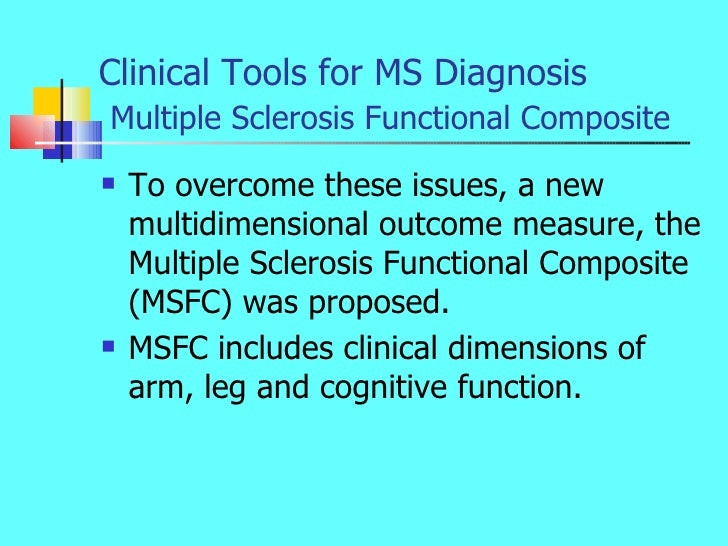 Multiple sclerosis diagnosis