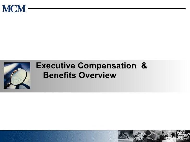 Executive compensation essay