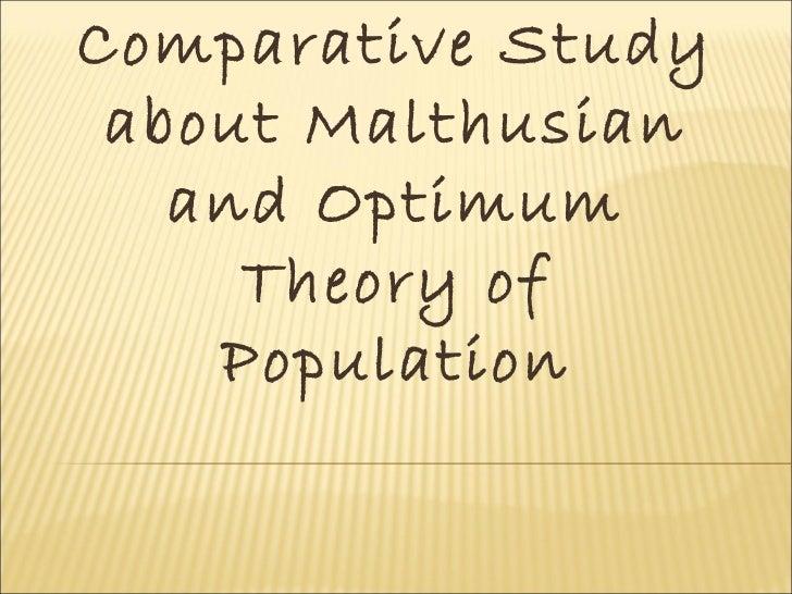 malthusian theory of population growth pdf