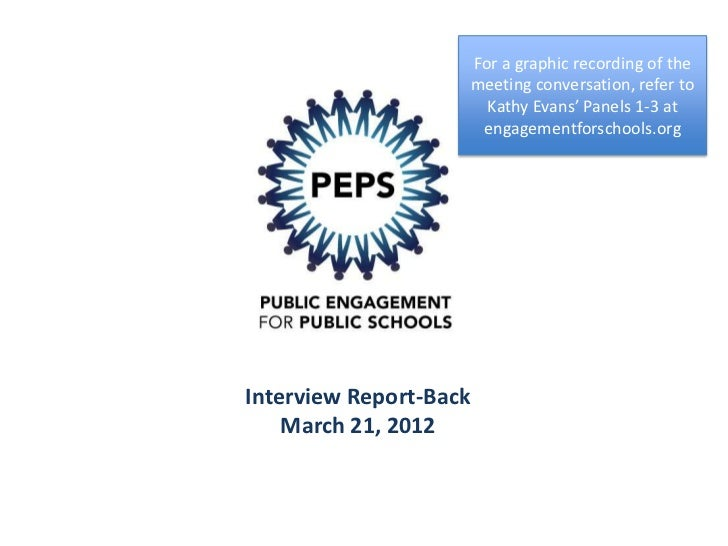 March 21st Meeting for PEPS