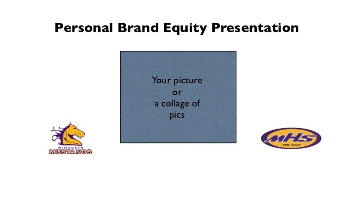Personal Brand Equity Presentation             Your picture                   or              a collage of                ...