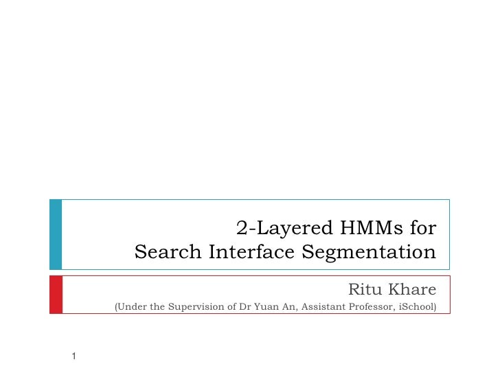 Two Layered HMMs for Search Interface Segmentation