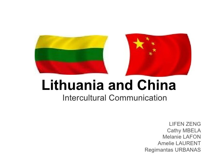 Lithuania and China. Intercultural communication