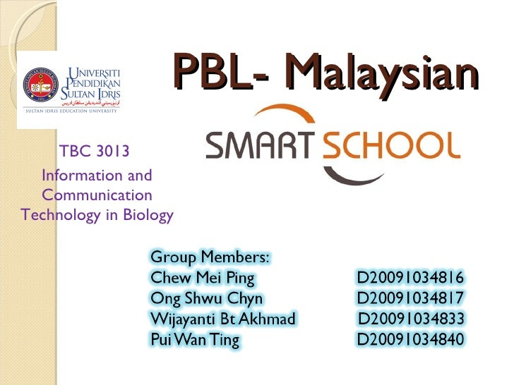 PBL- Malaysian TBC 3013  Information and Communication Technology in Biology
