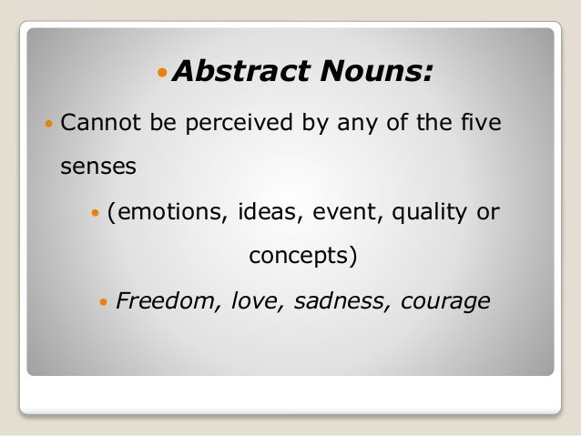 abstract words definition essay
