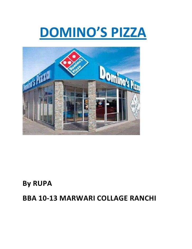Final presentation on domino's pizza (2)