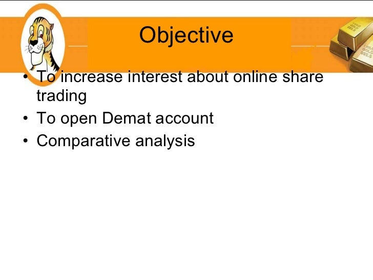 analysis of demat account and online trading essay An analysis of demat account and online trading analysis & interpretation of the data and opening of online nri trading and nri demat account with.