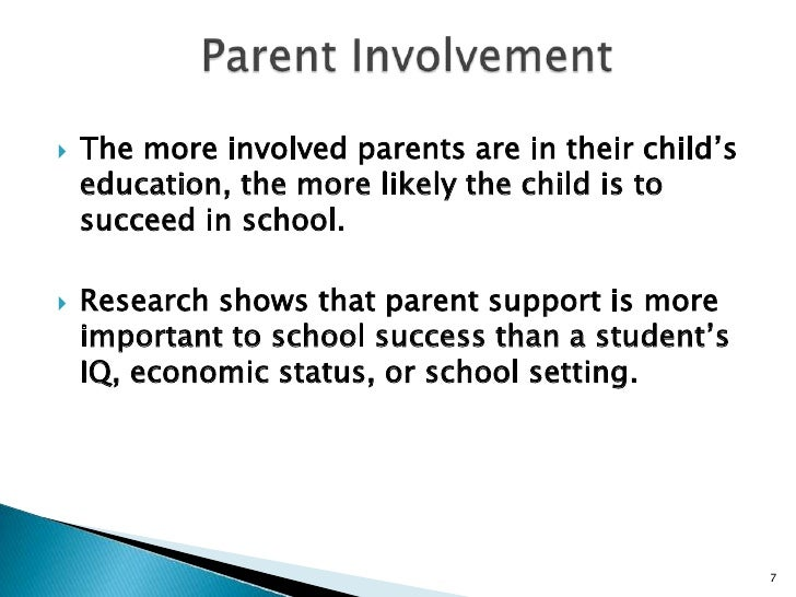 parental involvement in common schools is important