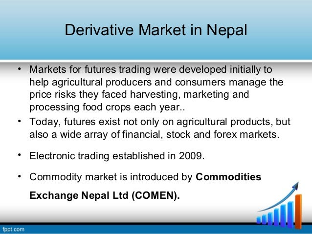 commodity market derivatives Commodity markets (overview) one of the important derivatives on the commodity market has been the commodity swap, especially in oil, natural gas.