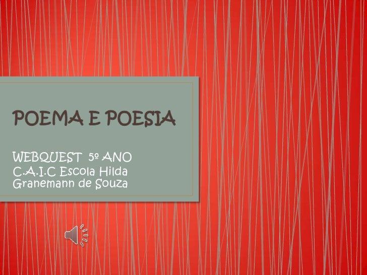 WEBQUEST 5º ANOC.A.I.C Escola HildaGranemann de Souza
