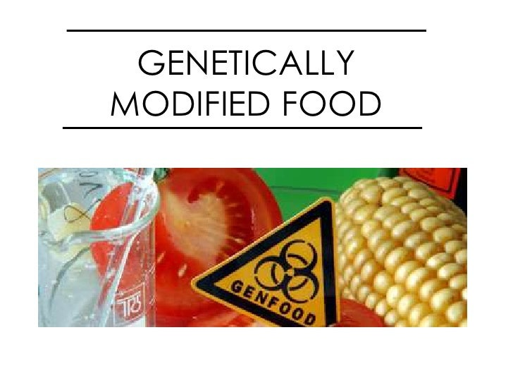 GENETICALLY MODIFIED FOOD <br />