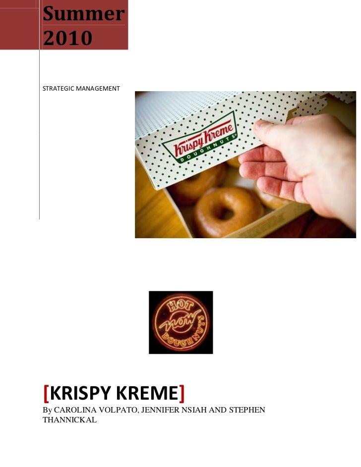 strategic mangement krispy kreme You are being redirected.