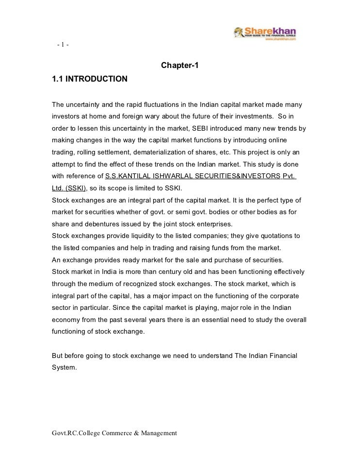 -1-                                     Chapter-11.1 INTRODUCTIONThe uncertainty and the rapid fluctuations in the Indian ...