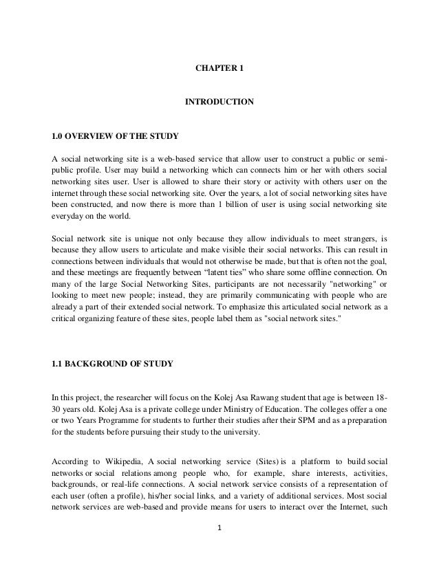 Social Network Essay Thesis