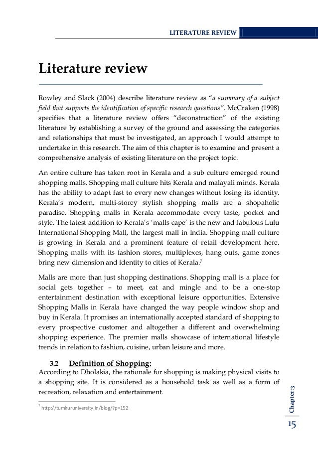 review of literature on shopping mall Mall of america research papers mall of america research papers delve into a sample of an order placed for a paper that has a specific format, and questions to be answered thoroughly the mall of america can be studied in a research paper as a sociological phenomena, an architectural wonder or a marketing ploy to keep americans shopping.