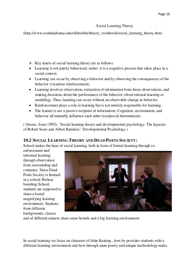 essay questions on dead poets society Dead poets society essaysthe key to reality lies in the search for spiritual truth achieving excellence is strongly embraced in the philosophy of carpe diem in dead poets society.