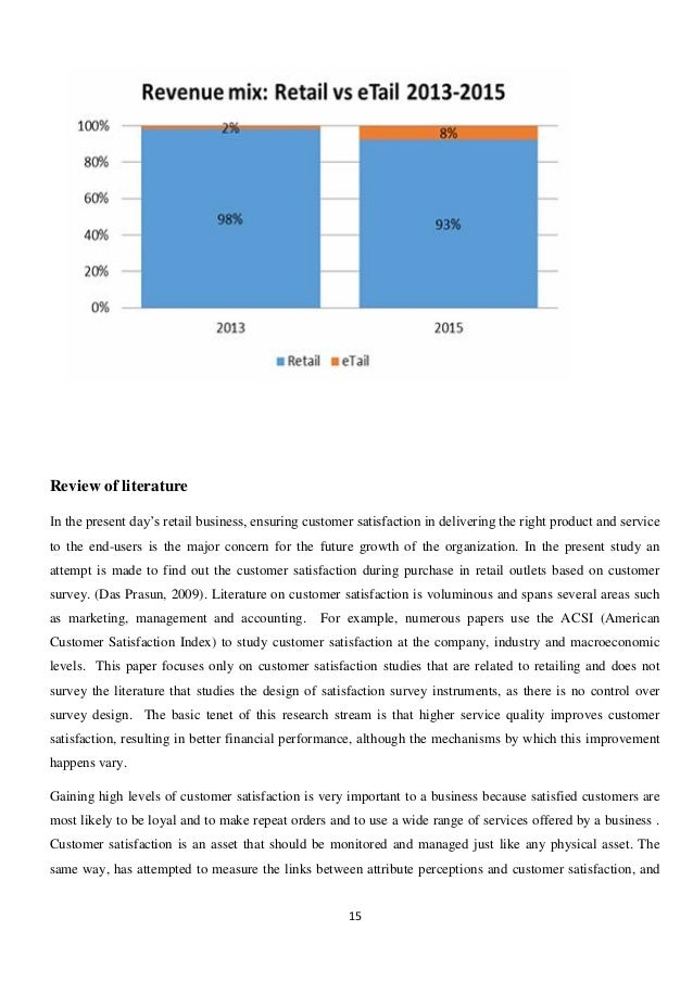 Dissertation Review Service Quality And Customer Satisfaction