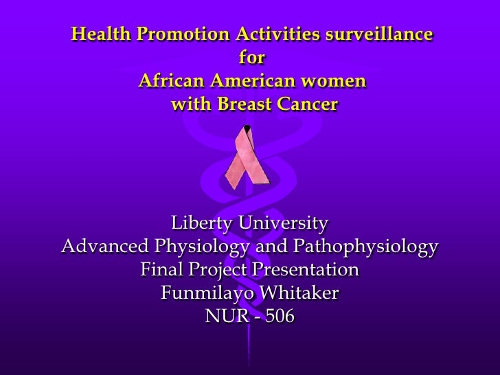 Health Promotion Activities surveillance                  for        African American women           with Breast Cancer  ...