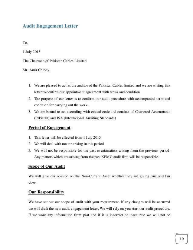 Letter Format » Audit Engagement Letter Format - Cover Letter and ...