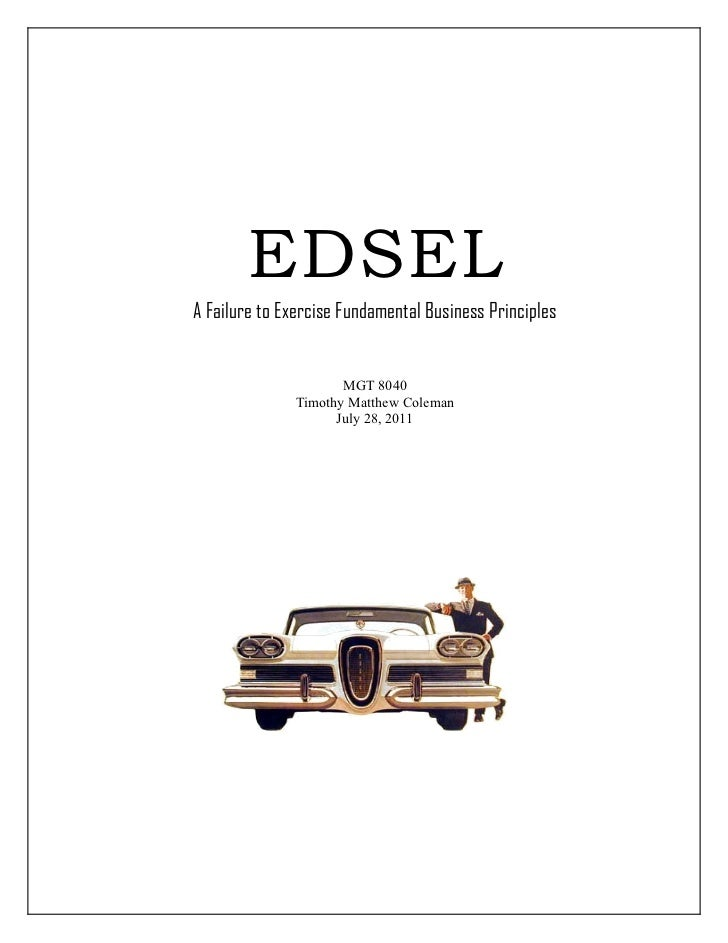 ford edsel case study