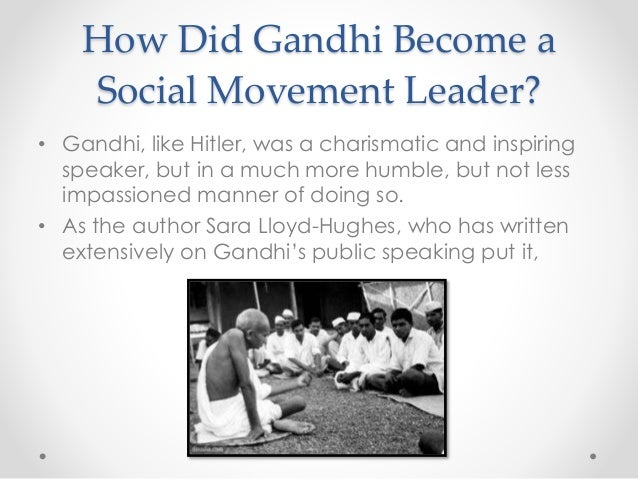 In what ways were Hitler and Gandhi charismatic?