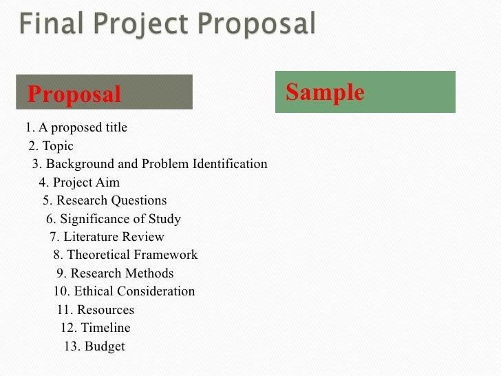 dissertation proposal proposal