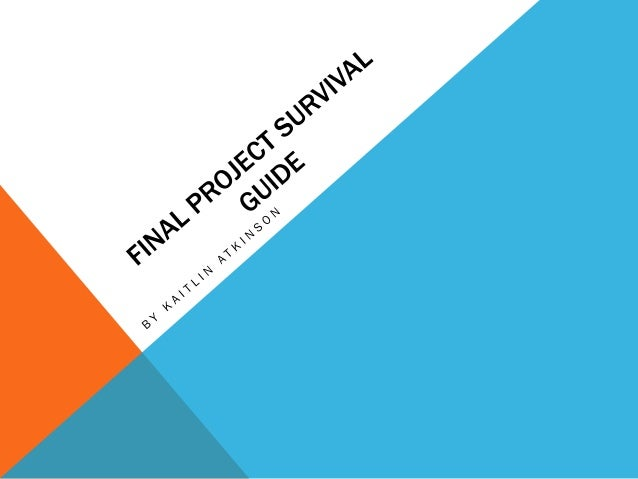 Final project survival guide