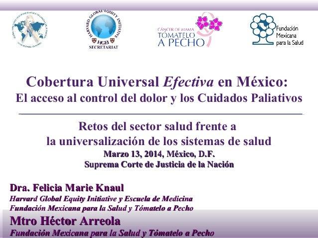 Cobertura universal efectiva en México: El acceso al control del dolor y los cuidados paliativos