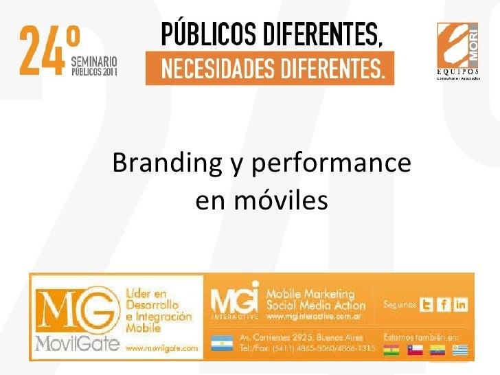 Presentación Branding y performance + Social Media
