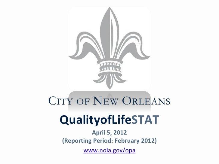 QualityofStat  April 5, 2012