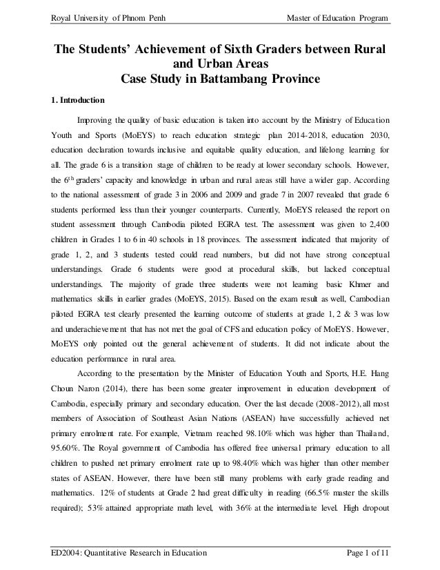 quantitative research paper in education This guide is for those interested in quantitative methods applied to education research, including statistical analysis.