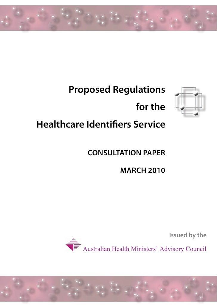 Final Regulations Consultation Paper  12 March 2010