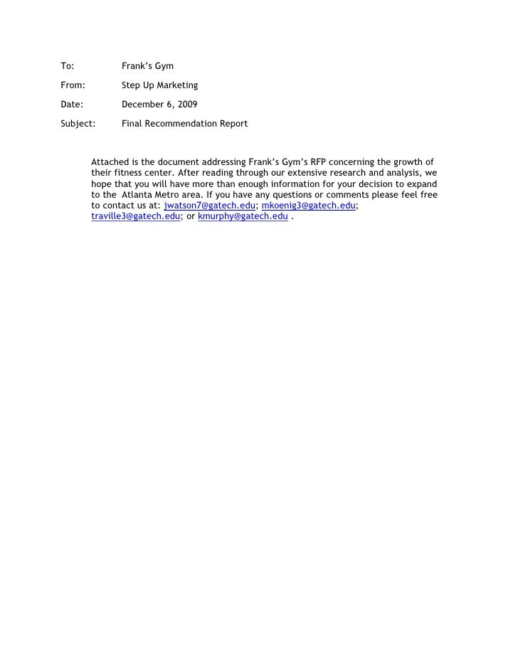Anytime Fitness Gym Cancellation Letter Final Report For