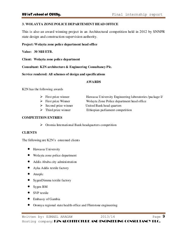 internship report on construction company Construction management internship manual 2 doubled spaced typed report on the internship the report responsibilities of the company, the construction.