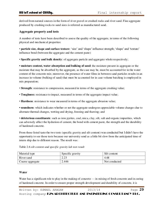 Sample Construction Report Writing