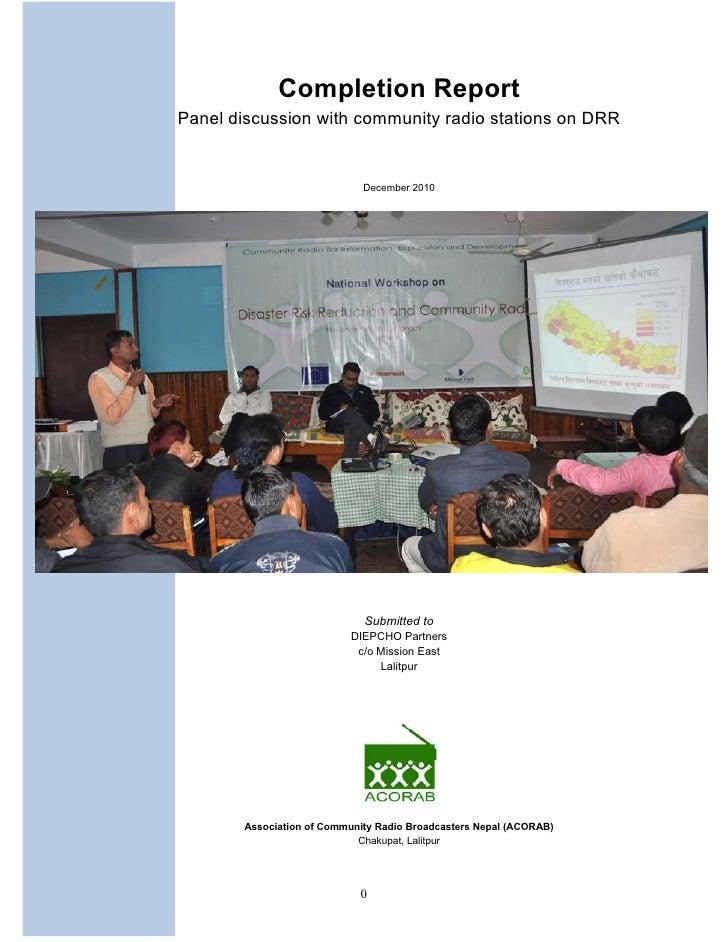 Final report  acorab drr programme