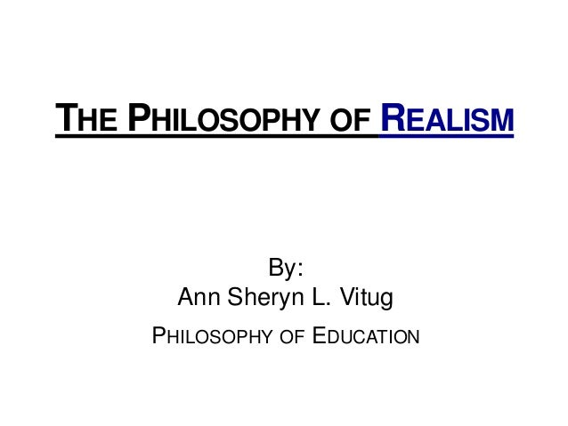 essay on realism and idealism